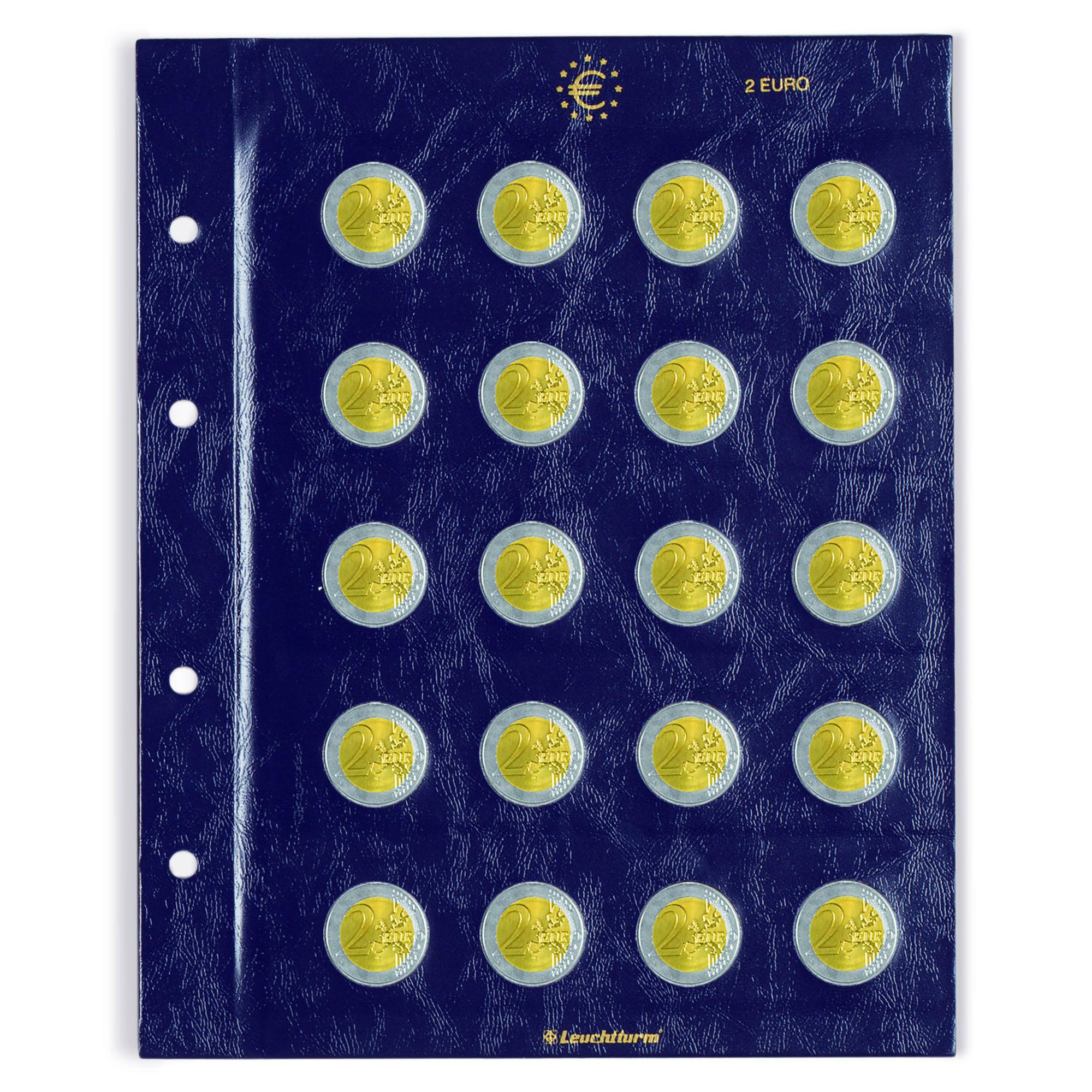 Лист VISTA для монет 2 Евро