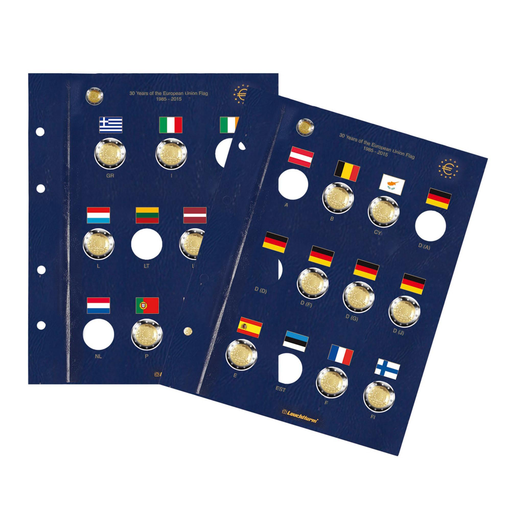 Лист VISTA 30 лет флагу ЕС (2 шт.)