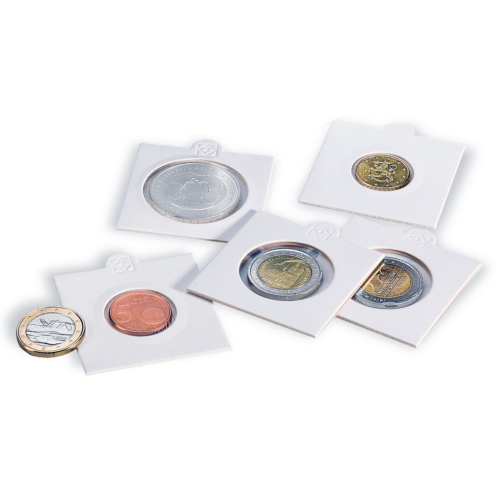Холдер для монет MATRIX белый самоклеящийся