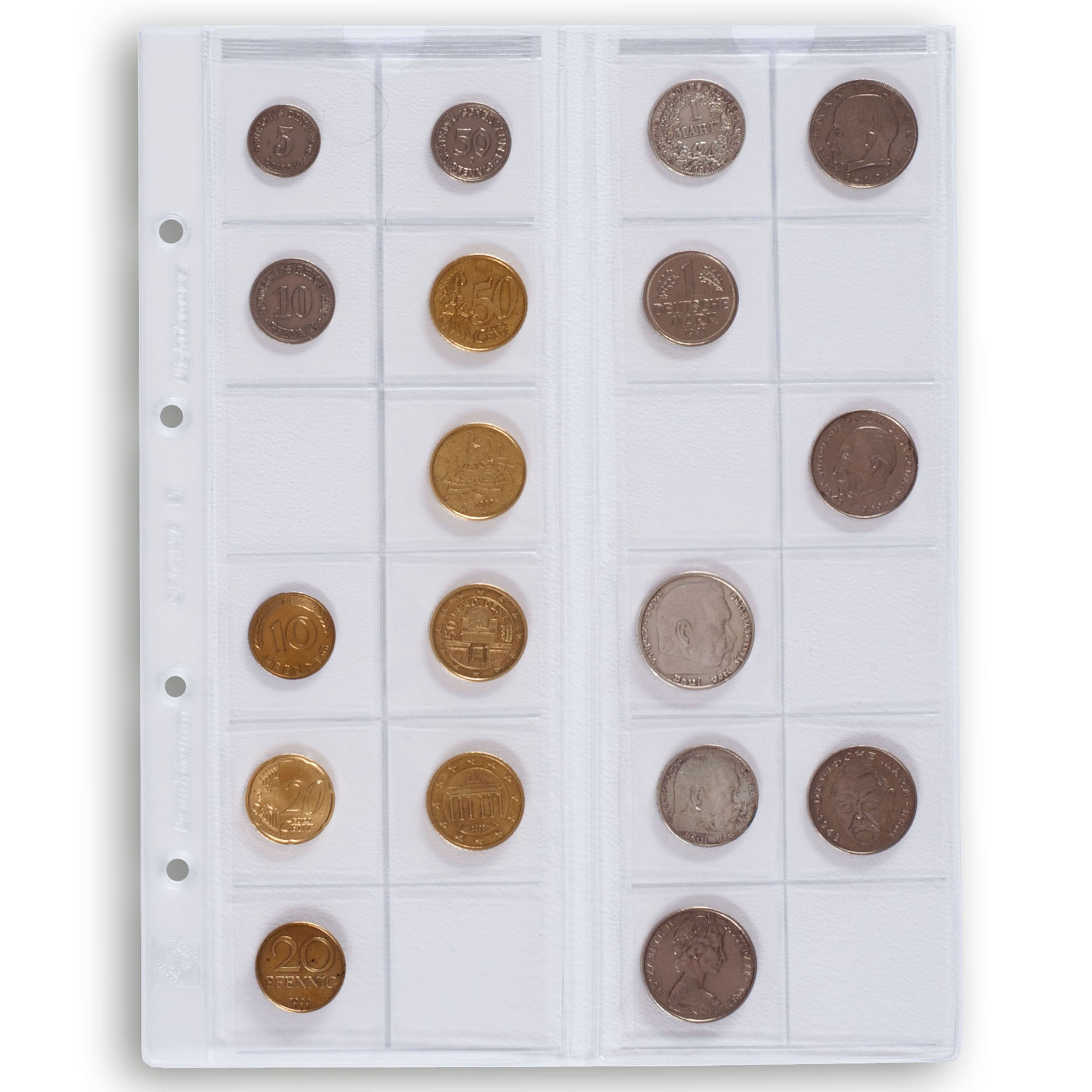 Лист для монет OPTIMA M24