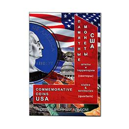 Купить Альбом (блистер) для монет США Штаты и территории